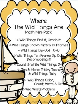 Where the Wild Things Are {Math Mini-Pack}