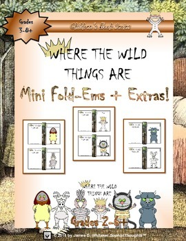 Where the Wild Things Are Mini Character Analysis Fold-Ems & Writing Templates