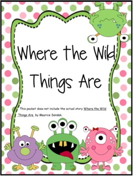 Where the Wild Things Are Mini Unit Packet