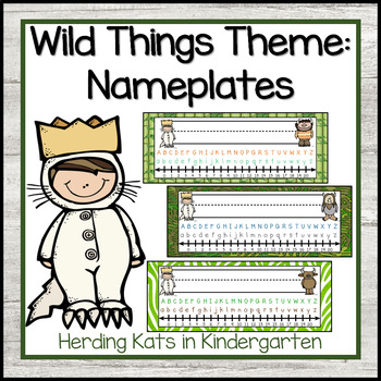 """""""Where the Wild Things Are"""" Nameplates"""