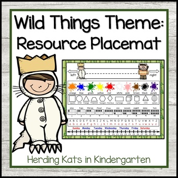 """""""Where the Wild Things Are"""" Placemat"""