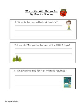 Where the Wild Things Are Reading Comprehension Questions