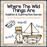 Where the Wild Things Are Roll & Cover Addition & Subtraction Games!