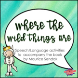 Where the Wild Things Are (Speech Therapy Book Companion)