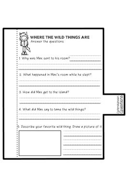 Where the Wild Things Are Student Flap Book