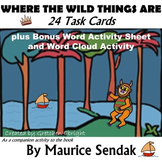 24 Task Cards: Where the Wild Things Are by Maurice Sendak(plus Word Activities)