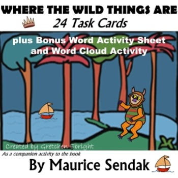 24 Task Cards: Where the Wild Things Are by Maurice Sendak