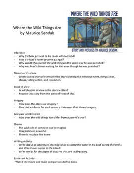Where the Wild Things Are - Teaching Literary Skills with Picture Books