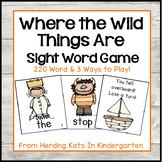 """""""Where the Wild Things Are"""" Sight Word Game"""