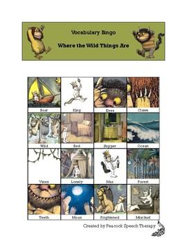 Where the Wild Things Are - VOCABULARY BINGO