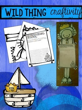 Where the Wild Things Are Writing Craftivity and Retelling sticks FREEBIE