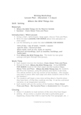 Where the Wild Things Are - Writing  - Lesson Plan