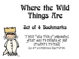 """""""Where the Wild Things Are"""", by M. Sendak, Set of 4 Bookmarks"""