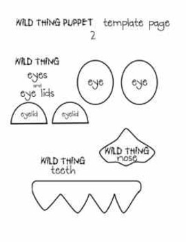 Where the Wild Things Are - mini-unit for Kindergarten