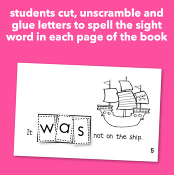 """Interactive Sight Word Reader """"Where was the Pirate Treasure?"""""""