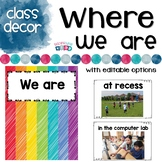 Where we are now poster set