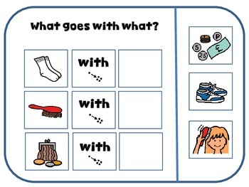Associations? (Tasks for students with Autism/special needs/kindergarten)