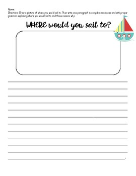 Where would you sail to? Writing Assignment