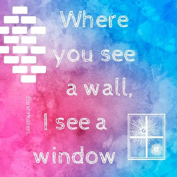 Where you see a wall I see a window (Motivational Quote Poster)