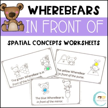 WhereBear's IN FRONT OF Book (spatial concepts)