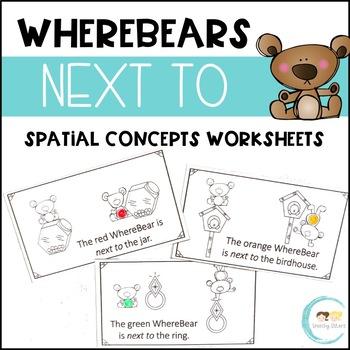 WhereBear's NEXT TO Book (spatial concepts)