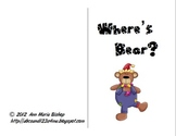 Where's Bear?  Interactive Positional Word Book