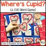 Where's Cupid? - A CVC (consonant, vowel, consonant)Word Pocket Chart Game