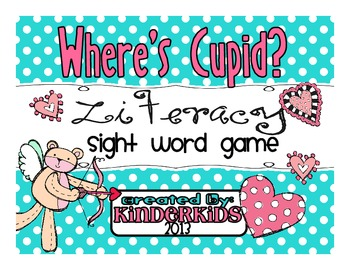 Where's Cupid?  Sight Word Game