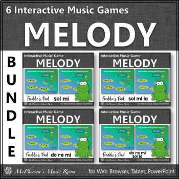 Where's Freddie's Pad? Melody BUNDLE (Interactive Music Games)