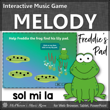 Melody Sol Mi La Interactive Music Game {Freddie's Pad}