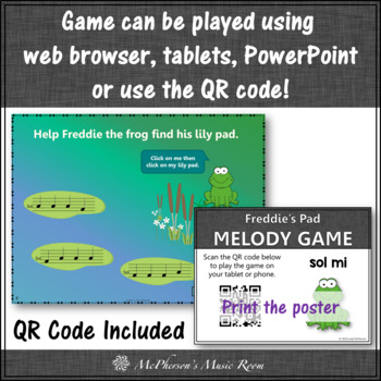Melody Sol Mi Interactive Music Game {Freddie's Pad}