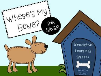 Where's My Bone? INK SAVER Interactive Learning Games
