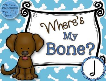 Where's My Bone?: Interactive Game and Manipulatives {Half Note}