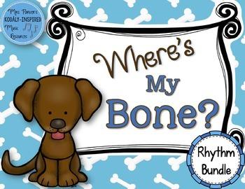 Where's My Bone?: Interactive Game and Manipulatives {Rhythm Bundle}