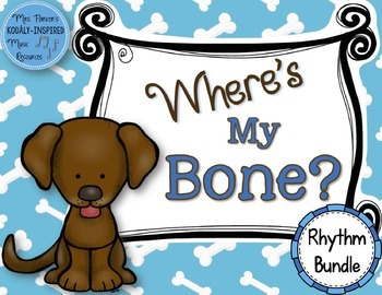 Where's My Bone?: Interactive Game and Manipulatives {Rhythm Bundle}