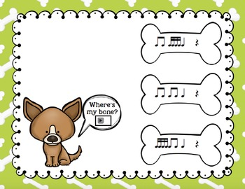 Where's My Bone?: Interactive Game and Manipulatives {Sixteenth Notes}