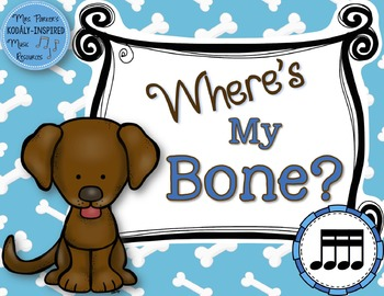 Where's My Bone?: Interactive Game and Manipulatives {Sixt