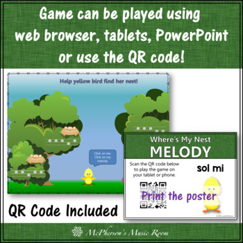Spring Music Game: Sol Mi Interactive Melody Game {Nest}