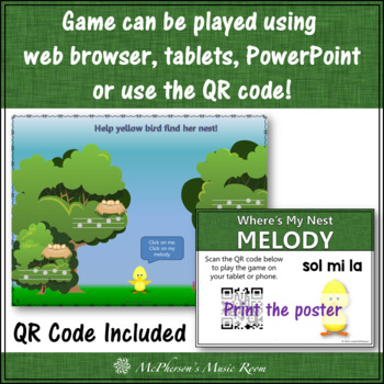 Where's My Nest?  Interactive Melody Game (Sol Mi La)