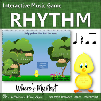 Spring Music Game: Eighth Notes Interactive Rhythm Game {Nest}
