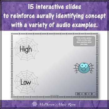 Melodic Direction: High Low Interactive Music Game {Web}