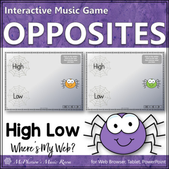 Where's My Web?  High Low Interactive Melody Game