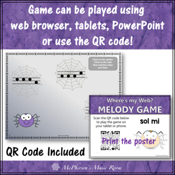 Where's My Web?  Interactive Melody Game (Sol Mi)