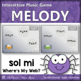 Where's My Web?  Interactive Melody Game (Sol Mi)