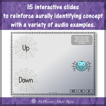 Where's My Web?  Melodic Direction Up or Down  (Interactive Music Game)