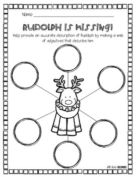 Rudolph is Missing!: A descriptive writing activity