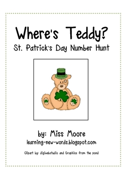 Where's Teddy? St. Patrick's Day Number Hunt