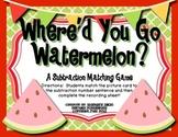Where'd You Go Watermelon?  Common Core Aligned Subtraction Freebie