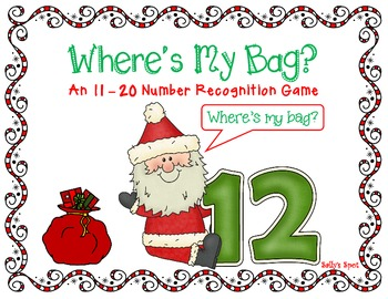 Where's my Bag?  An 11 - 20 Christmas Number Recognition Game