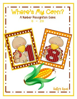Where's my corn?   A Thanksgiving  Number 0-20  Recognition Game